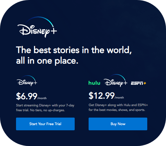 Step 1 Disney+ Free Trial Sign Up