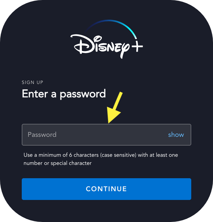 Step 4 Disney+ Free Trial Sign Up