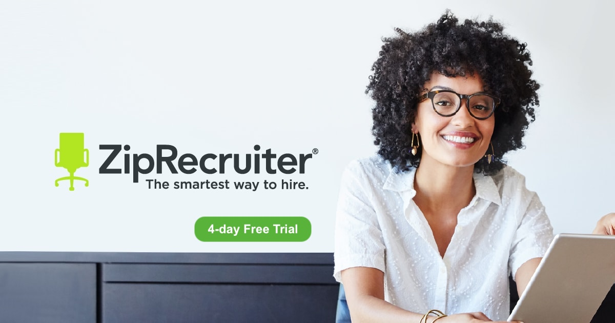 A woman using ZipRecruiter For Employers Free Trial